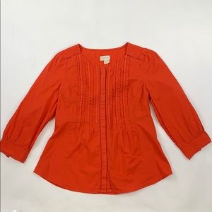 Meadow Rue Orange Embroidered Blouse